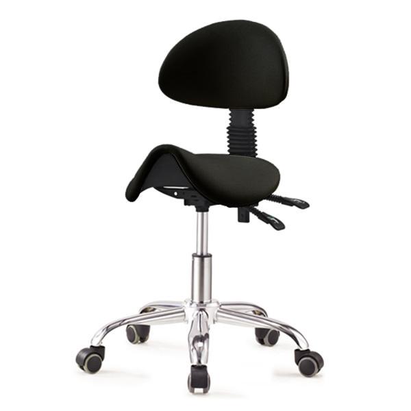 ergonomischer sattelhocker mit r ckenlehne. Black Bedroom Furniture Sets. Home Design Ideas